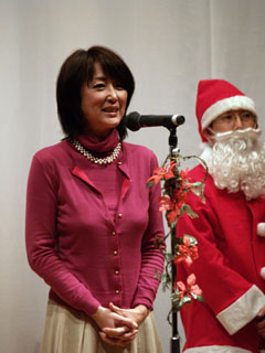 中川昭一衆院議員の郁子夫人の挨拶